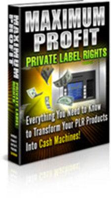 Product picture Maximum Profit PLR